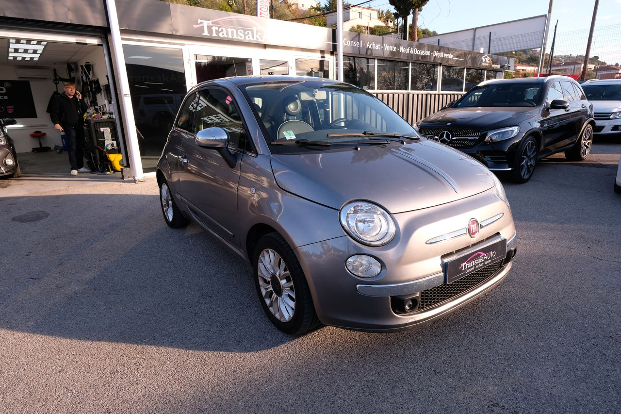 voiture fiat 500 1 2 8v 69 ch lounge occasion essence 2014 55500 km 7990 nice alpes. Black Bedroom Furniture Sets. Home Design Ideas