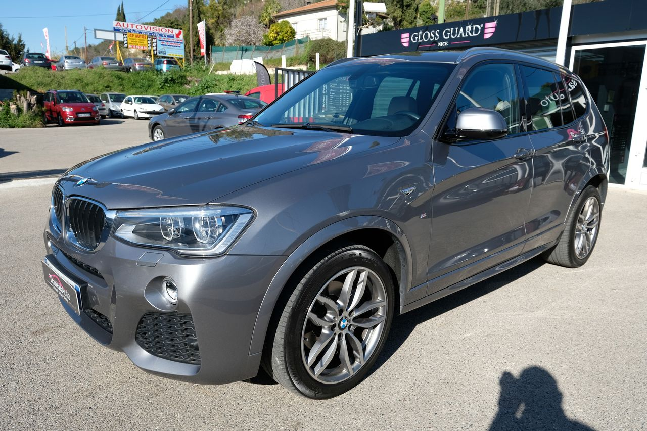 voiture bmw x3 xdrive20d 190ch m sport a occasion diesel 2015 38000 km 39990 nice. Black Bedroom Furniture Sets. Home Design Ideas