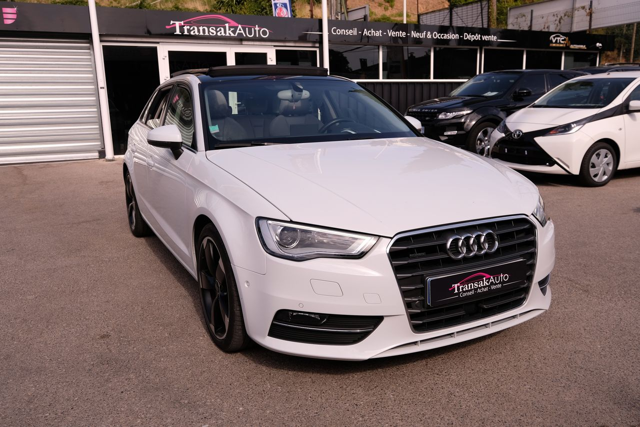 voiture audi a3 sportback 2 0 tdi 184 ambition luxe quattro s tronic 6 occasion diesel 2014. Black Bedroom Furniture Sets. Home Design Ideas