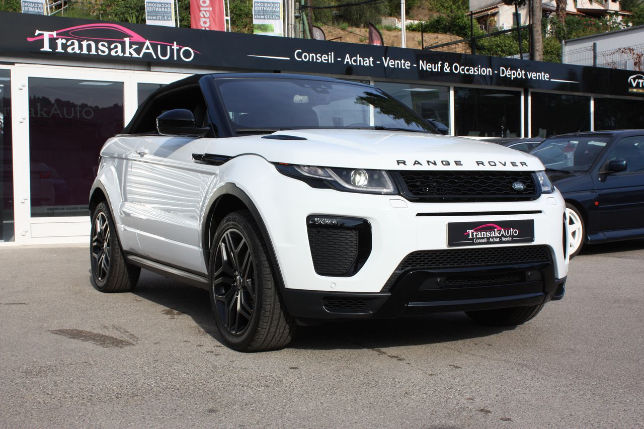 voiture land rover range rover evoque cabriolet mark iii td4 180 hse dynamic a occasion diesel. Black Bedroom Furniture Sets. Home Design Ideas